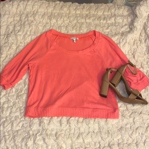 Delia's Crop Sweater in Pink